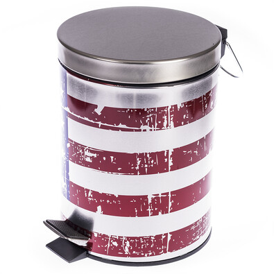 Odpadkový koš s vlajkou USA
