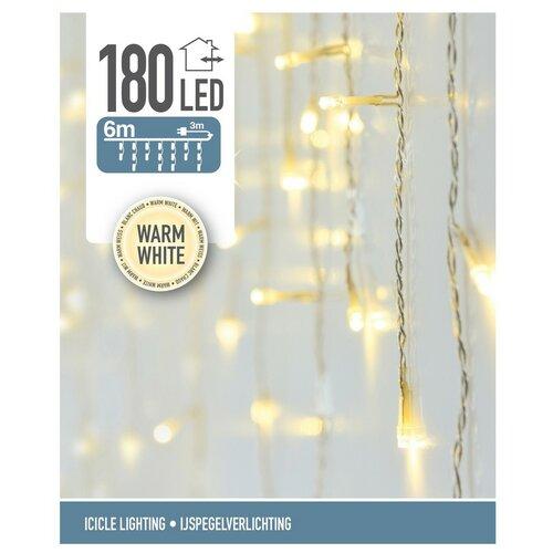 Icicle karácsonyi fényfüzér, meleg fehér, 180 LED-es