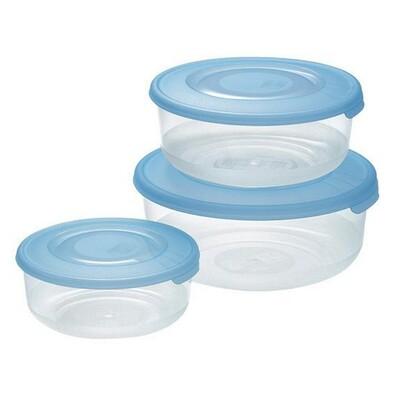 3-dílná sada plastových dóz