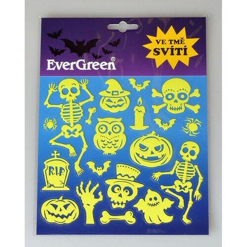 Samolepicí dekorace svítící ve tmě Halloween, 24 x 18,2 cm