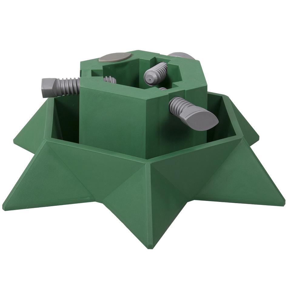 Stojan pod vánoční stromek STAR zelený v13cm d40cm