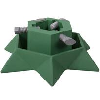 Plastový stojan na vánoční stromeček Star, zelená