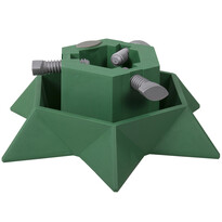 Suport din plastic pomul de Crăciun, Star, verde