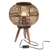 Lampă decorativă Almansa, din bambus, 30 x 39x 30 cm