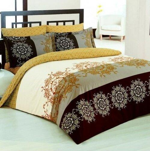 Bavlnené obliečky Valentina hnedá V2, 140 x 200 cm, 70 x 90 cm, 50 x 70 cm