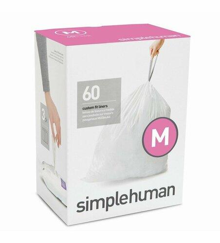 Vrecia do odpadkového koša 45 L, Simplehuman typ M zaťahovacie, 3 x 20 ks (60 vriec)