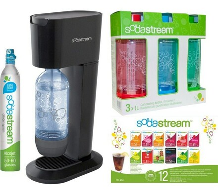Sodastream Genesis Titan/Silver, 3 x 1 lahev, 12 P