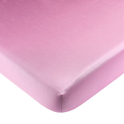 Saténové prostěradlo s gumou růžová, 90 x 200 cm