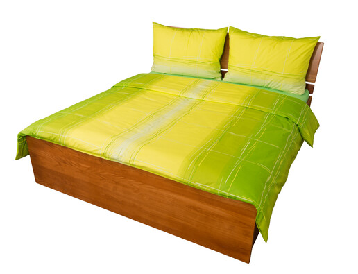 Bavlněné povlečení Hladina zelená, 140 x 200 cm, 70 x 90 cm