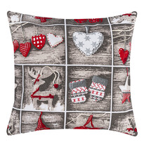 Vianočná obliečka Christmas Heart, 40 x 40 cm