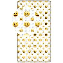 Jerry Fabrics Dětské bavlněné prostěradlo Emoji, 90 x 200 cm