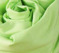 Plátěné prostěradlo na gumu, světle zelená, 90 x 200 cm