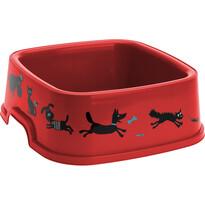 Miska pro domácí mazlíčky Cane červená  , 19,5 x 19,5 cm