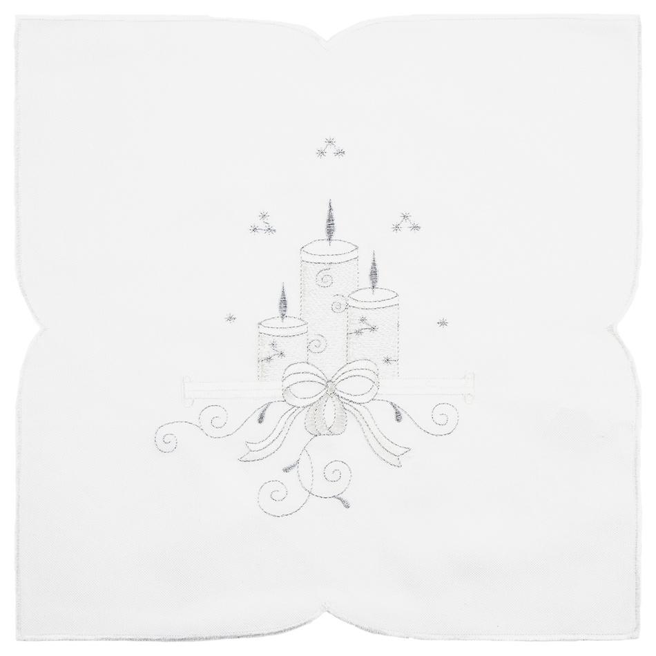 Forbyt Vánoční ubrus Svíčky, 35 x 35 cm