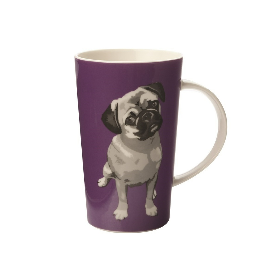 Maxwell & Williams Paws Conical Mug, fialová,