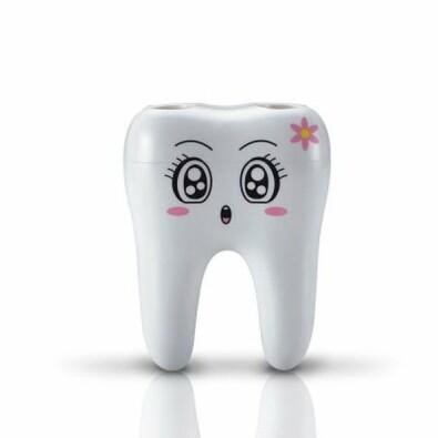 Zubní držák kartáčků bílá