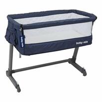 Baby Mix Detská cestovná postieľka k posteli rodičov, modrá