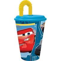 Plastový téglik so slamkou Cars 430 ml