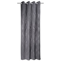 Zatemňovací závěs Vegas šedá, 135 x 245 cm