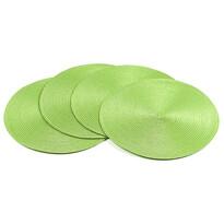 Suport farfurie Deco, rotund, verde deschis, diam. 35 cm, set 4 buc.