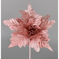 Umelá Poinsettia ružová, 25 cm