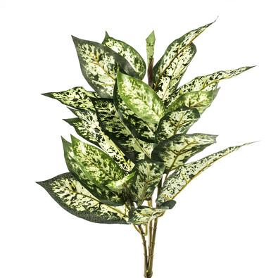 Umělá květina mramornatka skvrnitá  zelenožlutá