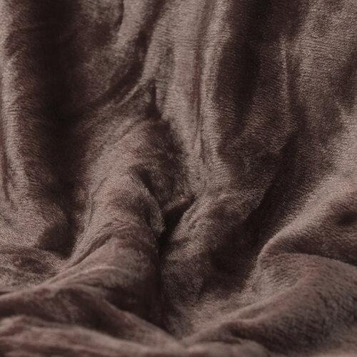 Deka XXL / Přehoz na postel tmavě hnědá, 200 x 220 cm