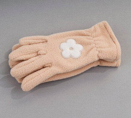 Dětské prstové rukavice fleece Karpet 5575, béžové