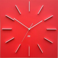 Future Time FT1010RD Square red Designerski zegar ścienny, 40 cm