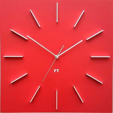 Future Time FT1010RD Square red Design falióra, 40 cm