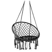 Domarex Wiszący fotel-huśtawka Luna czarny, 60 x 80 x 120 cm