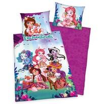 Lenjerie de pat Herding Enchantimals, din bumbac, pentru copii, 140 x 200 cm, 70 x 90 cm