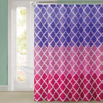 Sprchový závěs Magic růžová, 180 x 180 cm