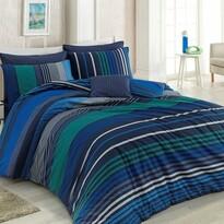 Pościel bawełniana Marley niebieska, 140 x 200 cm, 70 x 90 cm