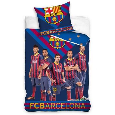Bavlněné povlečení FC Barcelona Team 8008, 140 x 200 cm, 70 x 80 cm