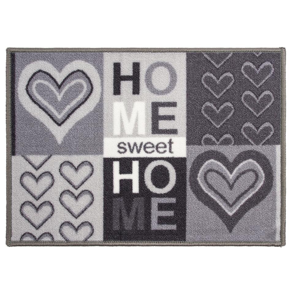 Vnitřní rohožka Sweet Home šedá, 50 x 70 cm