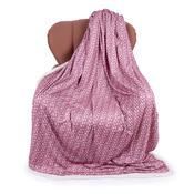 Beránková deka Maglia starorůžová, 150 x 200 cm