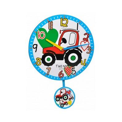 Twins 10411 traktor nástěnné hodiny dětské