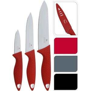 Sada nerezových nožů skrytkou Excelent, 3 ks, černá