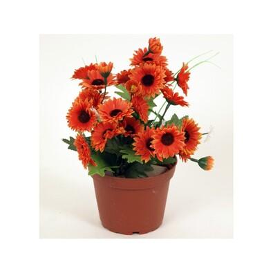 Sztuczna wiązanka pomarańczowych kwiatów