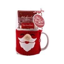 Santa bögre pulcsiban Marshmallow édességgel, 350 ml