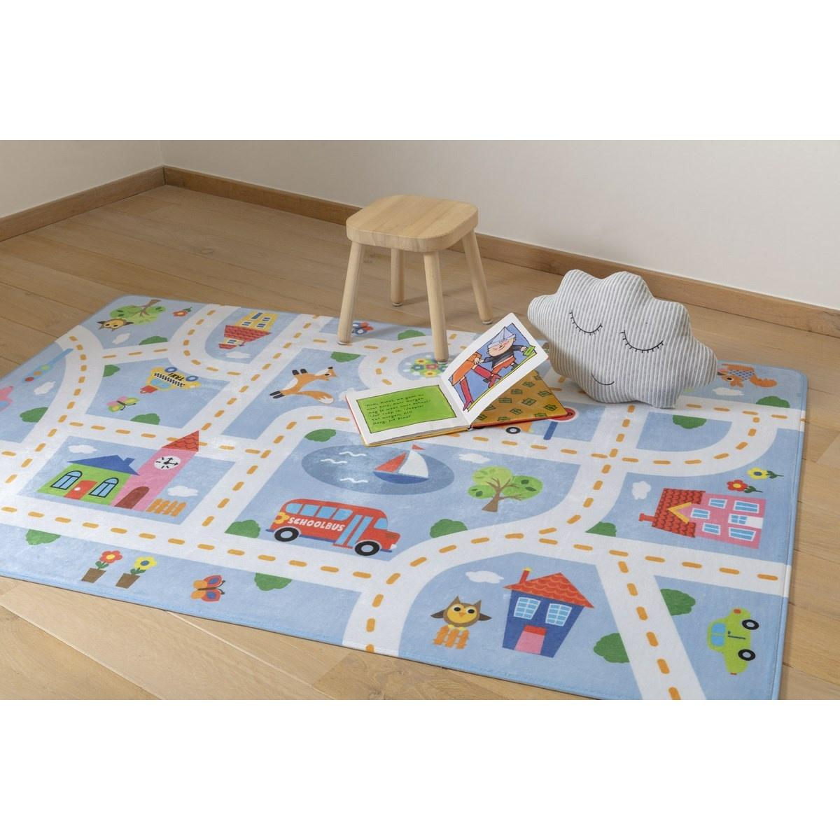 Vopi Dětský koberec Ultra Soft Kids Play blue, 90 x 130 cm