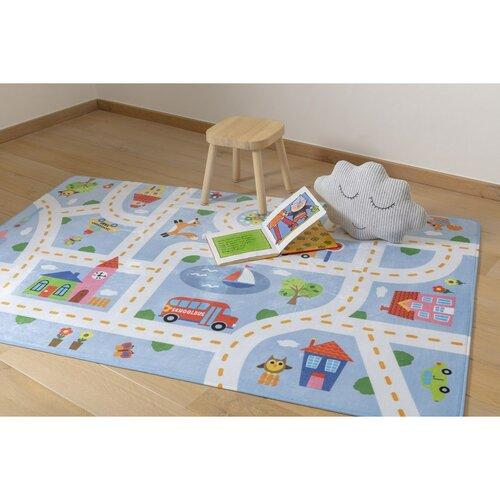 Dětský koberec Ultra Soft Kids Play blue, 90 x 130 cm