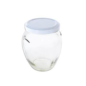Orion Sada zavařovacích sklenic s víčkem, 300 ml ,