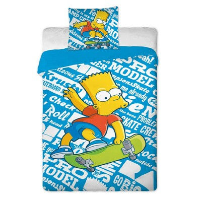 Dětské bavlněné povlečení The Simpsons Bart, 140 x 200 cm, 70 x 90 cm