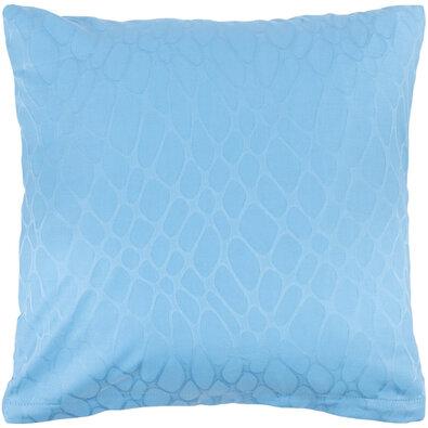 Veba Damaškový povlak na polštářek GEON Hadí kůže  modrá, 40 x 40 cm