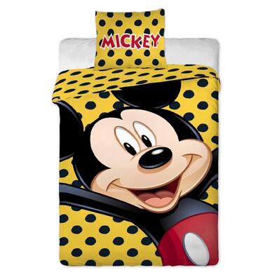 Dětské bavlněné povlečení Mickey Yellow, 140 x 200 cm, 70 x 90 cm
