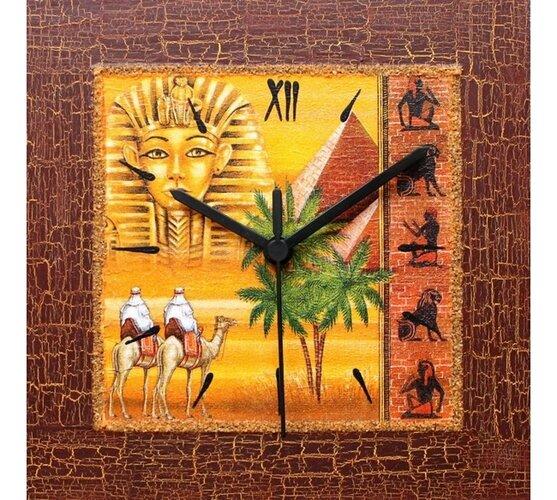 Dekoratívne nástenné hodiny Spomienka na Egypt
