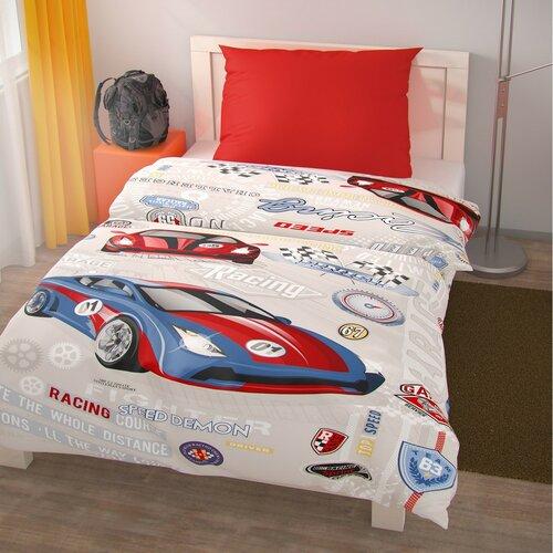 Gyermek pamut ágynemű Racing, 140 x 200 cm, 70 x 90 cm