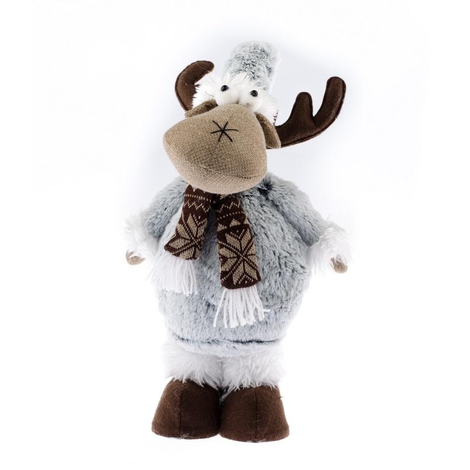 Vánoční filcový sob Albert, šedá